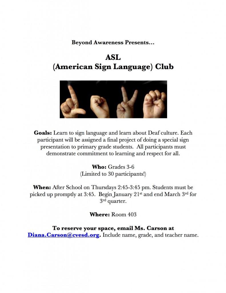 Microsoft Word - ASL Club Flyer