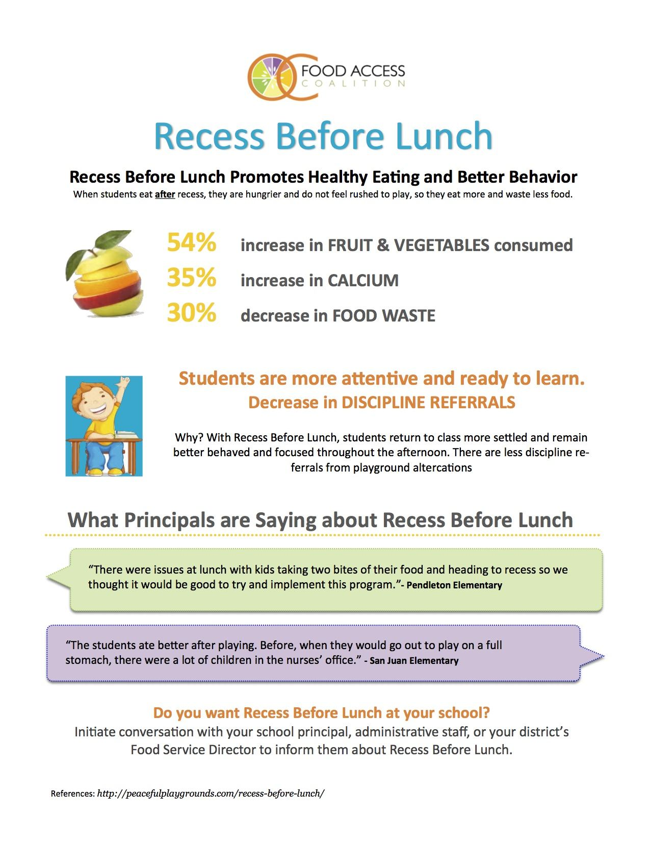 aad8dbe4d McMillin implemented the Recess Before Lunch this year. Here are some of  the benefits. Tuesday, January 9th: ...